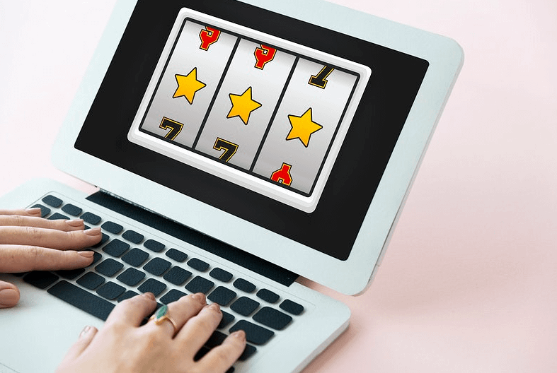 three stars rolette on laptop